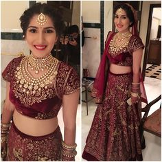 """""""One of the sweetest girls ever , the pretty wearing for her wedding at Indian Dresses, Indian Outfits, Wedding Sari, Wedding Bride, Wedding Stuff, Wedding Dresses, Indian Bridal Wear, Indian Wear, Indian Look"""