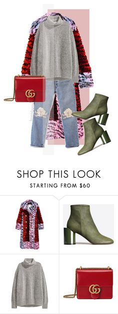 """Без названия #160"" by leonidaann ❤ liked on Polyvore featuring Maison Margiela, H&M and Gucci"