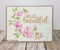 April 2018 Release from Craftin Desert Divas. Hello Beautiful, Divas, Backgrounds, Design, Home Decor, Coloring, Background Pics, Homemade Home Decor