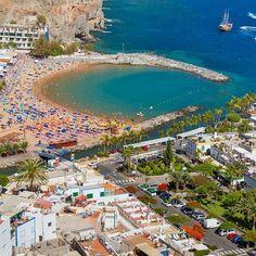 Mogan harbour and beach in #GranCanaria