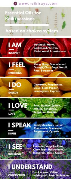 Essential Oils for Reiki sessions - Gesundheit Essential Oils For Chakras, Essential Oil Uses, Doterra Essential Oils, Essential Ouls, Healing Oils, Aromatherapy Oils, Holistic Healing, Reiki Energy Healing, Healing Crystals