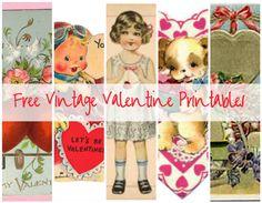 -Free Vintage Valentine Printables   Lil Blue Boo