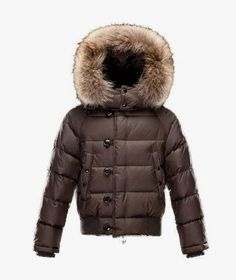 Kids Moncler Brown Enfant Bulgare Jacket  moncler  monclerkids  brown   monclersuit  longcoat f8cada009b1
