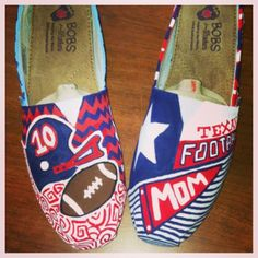 Wimberley High School custom painted shoes!