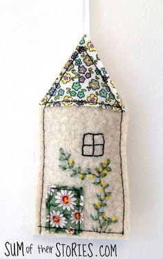 felt little house lavender bags