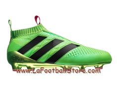 check out cf103 63c0a Adidas Homme Football Chaussures ACE 16+ Purecontrol Primeknit Terrain  souple Solar Green