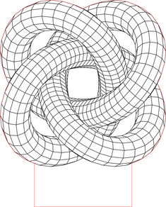 Torus knot 4 3D illusion LED lamp vector file
