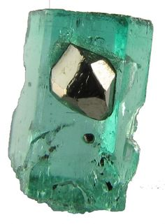 Beryl - emerald with pyrite 4.02 carats / Mineral Friends <3