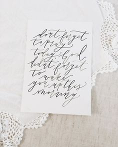 Calligraphy Quote Print $8