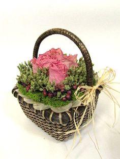 love this floral basket arrangement