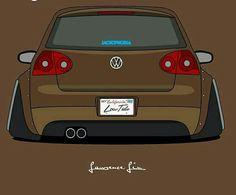 Dope... … Volkswagen Germany, Volkswagen Touran, Vw Mk1, Slammed Cars, Wooden Car, Car Drawings, Art Graphique, Car Stickers, Sport Cars