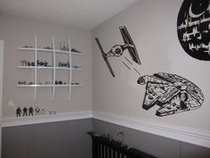 Millenium falcon Xwing Tie Fighter Darth Vader by YourDecorStore, $34.00