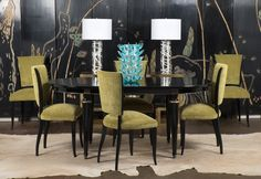 French Art Deco Set of Six Dining Chairs
