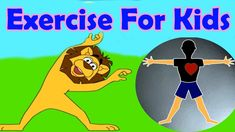 Exercises for different parts of the body, Jumping, Stretching, Aerobics, Funny Game for Kids Yoga For Kids, Exercise For Kids, Exercise Videos, Kids Workout, Men Exercise, Workout Men, Workout Plans, Funny Games For Kids, Just Dance Kids