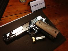 Cabot Prototype National Standard Deluxe 1911 style pistol with rare mokume trigger and grips