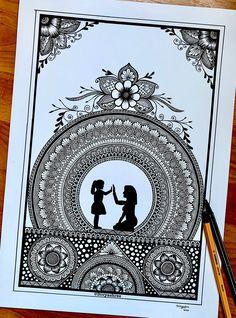 Mandala Art Therapy, Mandala Art Lesson, Mandala Artwork, Mandala Painting, Watercolor Mandala, Easy Mandala Drawing, Mandala Sketch, Zantangle Art, Dibujos Zentangle Art
