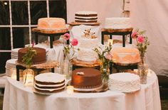 cake table -- there's a flavor for everyone!