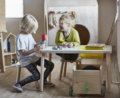 Flisat, muebles de madera para niños de Ikea - Mamidecora