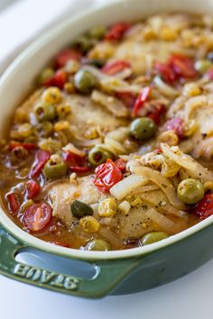 Mediterranean Chicken with Tomatoes, Olives and Capers - The Beach House Kitchen