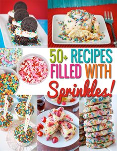 An incredible collection of recipes with sprinkles @Christi | Love From The Oven