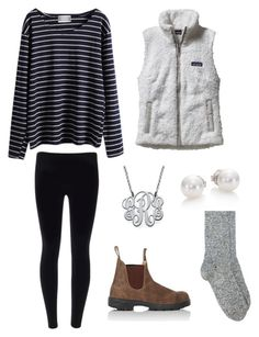 """""""Patagonia and Blundstones"""" by ellisstrutton on Polyvore featuring Patagonia, My Name Necklace, Étoile Isabel Marant, Mikimoto and Blundstone"""