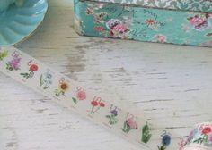 Floral Stamps washi tape - flowers - mt washi tape - floral washi tape - Embellishments