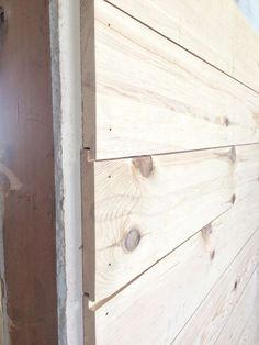 R E A L shiplap walls going up at the flip house   The Harper House