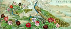 Peacock Wall Murals and Animal Wallpaper Murals FREE SHIPPING