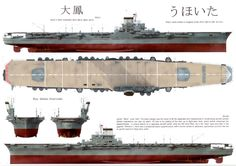 A detailed overview of the design considerations and specifications of the IJN Taiho armoured flight deck aircraft carrier. Naval History, Military History, Imperial Japanese Navy, Navy Aircraft, Navy Military, Flight Deck, Navy Ships, Military Weapons, Pearl Harbor
