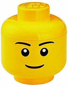 Amazon.com: LEGO Multi-Use Stackable Storage Head Small, Boy, Yellow: Toys & Games