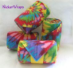 Nicker Wraps - Starburst Tie Dye Polo Wraps, via Etsy.