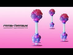 Balloon rose column, decoration, wedding, Ballon Rosen Säule, Dekoration, Hochzeit - YouTube