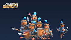 I Had the pleasure to create the Royal Recruits characters for Clash Royale - Supercell. Concept by Jonathan Dower Thanks to Airborn Studio for the texturing. Thanks to Antti Ripatti for his posing work. 3d Character, Character Design, Clas Of Clan, 3d Things, Arte Nerd, Attack On Titan Art, Game Art, Boy Or Girl, Concept Art