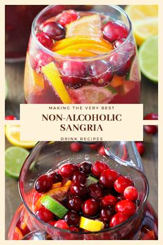 Find easy-to-make comfort food recipes like Healty recipes, dinner recipes and more recipes to make your fantastic food today. Easy Drink Recipes, Nut Recipes, Dinner Recipes, Cooking Recipes, Non Alcoholic Sangria, Sangria Drink, Calorie Diet, Healthy Drinks, Food To Make