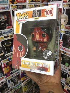 Walking Dead Glenn Rhee I'll Find You,Negan Death ! Funko Pop Walking Dead, Walking Dead Pop Vinyl, Walking Dead Funny, Pop Custom, Custom Funko Pop, Funko Pop Vinyl, The Walking Dead Merchandise, Pop Collection, Geek