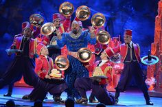 """Actor James Monroe Iglehart performs a scene from """"Aladdin"""" onstage during the 68th Annual Tony Awards at Radio City Music Hall on June 8, 2..."""