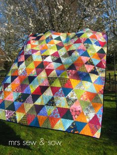 Triangle Quilt | Mrs Sew and Sow