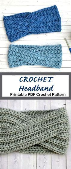 Crochet Ear Warmer Pattern, Crochet Headband Pattern, Knitted Headband, Crochet Headbands, Crocheted Hats, Baby Headbands, Quick Crochet, Crochet Baby, Diy Crochet