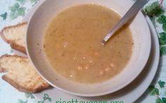 Zuppetta cremosa di ceci con Pane #vegan #vegano #ricettevegan