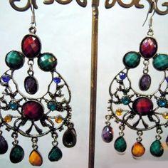 Ethnic Customs - Nepal - Tibet Jewelry * Handmade Retro Unique Earrings - TJ0502