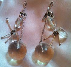 1960s Lucite Ball Earrings