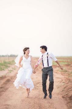 Happy farm wedding