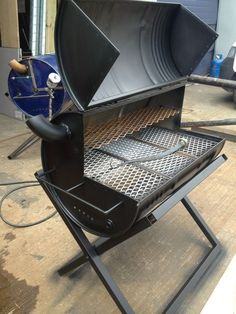 Original Jerk - Creative metalwork, fabrication and blacksmithing south london - Bbq Grill Grill Diy, Barbecue Grill, Grill Party, Diy Hibachi Grill, Outdoor Barbeque, Oil Drum Bbq, Barrel Grill, Homemade Smoker, Grill Design