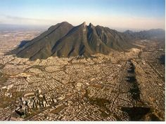 Monterey, Mexico  I have been here ... This mountain is beautiful! The Horse Saddle!