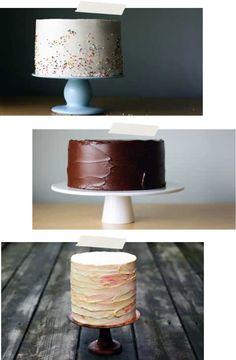 pretty, simple cakes