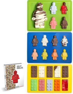 Ooh, love these LEGO Figure and Bricks Candy Molds as a fun gift for kids.