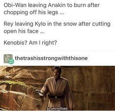 Star Wars: The Force Awakens  #Rey #Obi-wan Kenobi #Kenobis