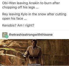 Star Wars: The Force Awakens  #Rey #Obi-wan Kenobi #Kenobis