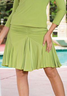 Dance America S502 - Short Tulip Latin Dance Skirt| Dancesport Fashion @ DanceShopper.com