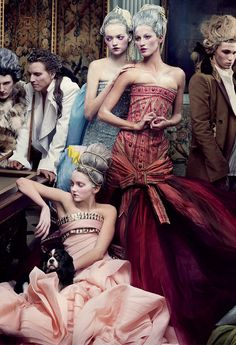 gemma ward, gisele bundchen and lily cole by annie leibovitz for vogue us